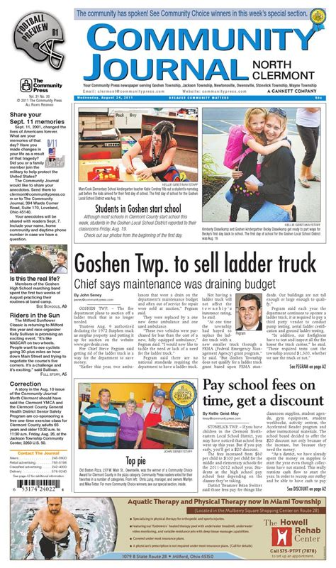 sun journal sports section community journal north clermont 082411 by enquirer media