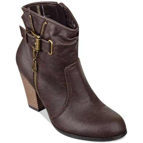 guess boots g by guess boots karda booties in brown lyst
