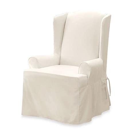 sure fit twill supreme chair slipcover sure fit 174 twill supreme wingback chair slipcover bed