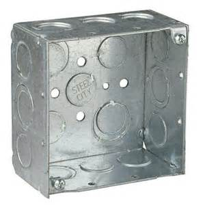 steel city 2 square electrical box 521711234ew 25r the home depot