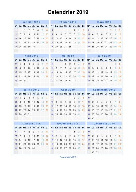 Calendrier 0 Imprimer Calendrier 2019 224 Imprimer Gratuit En Pdf Et Excel