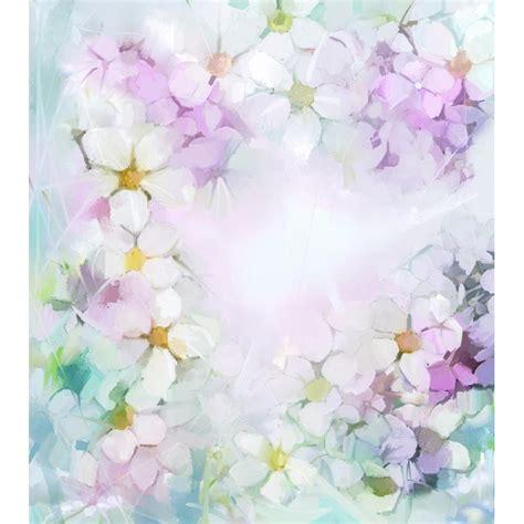Wallsticker Purple Flower Bunga Ungu cat air ungu bunga bunga fotografi kain latar