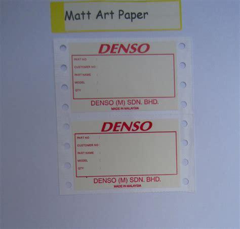 printable sticker paper malaysia malaysia matt art paper sticker supplier printer