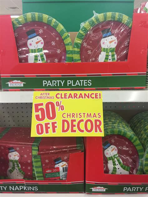 christmas clearance for just 50 each at the dollar tree
