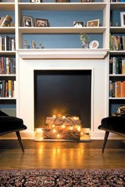 Interesting Ideas To Add A Fake Fireplace To Your Home Lights In Fireplace