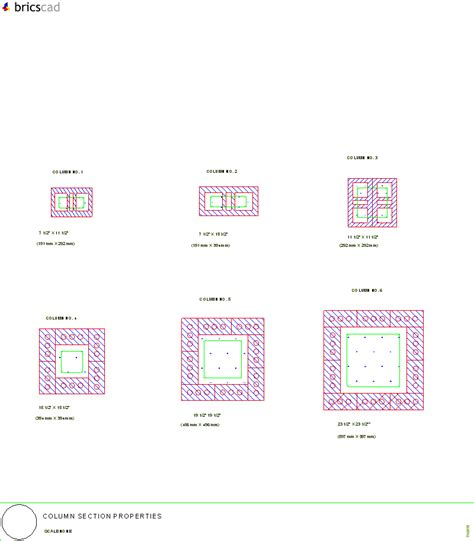 column section column section properties aia cad details zipped into