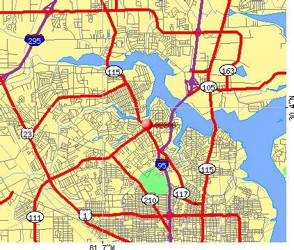 jacksonville fl zip code map jacksonville wiring