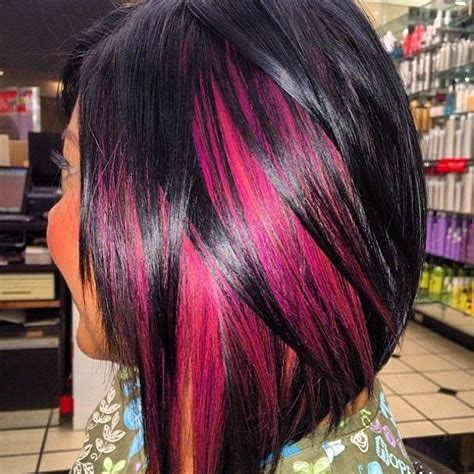 Peekaboo Hairstyle by This Peekaboo Color And Bob Hairstyle