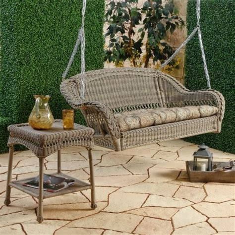resin porch swing seabrook resin wicker porch swing with optional cushion