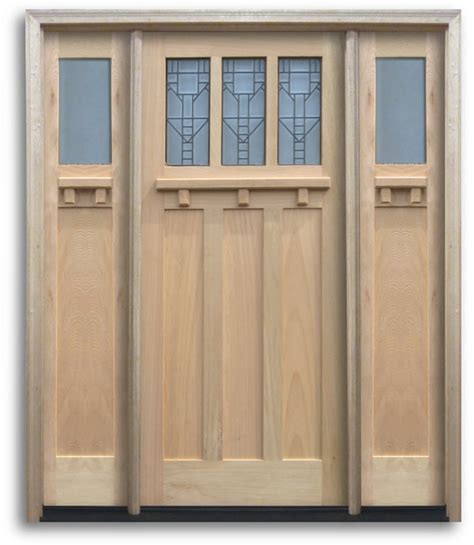 Pre Hung Exterior Door Pre Hung Oak Exterior Door Craftsman 3 Top Lites With Black Caming 2 Sidelites 36 Quot W 80 Quot H