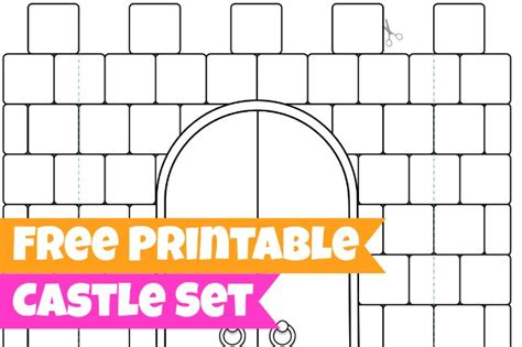 free printables for kids castle set