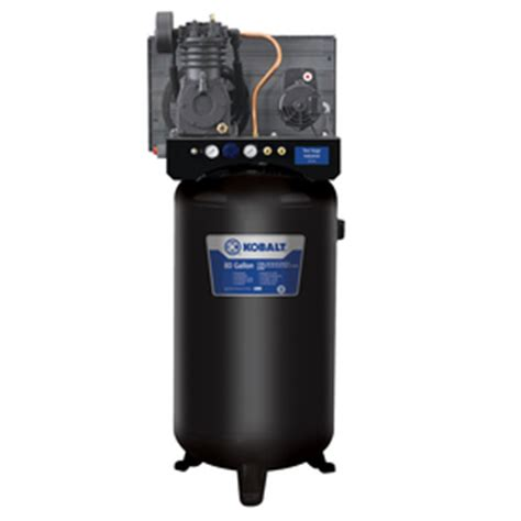 shop kobalt 5 2 hp 80 gallon two stage electric air