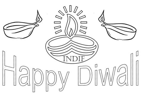 coloring pages free coloring pages of happy diwali diwali