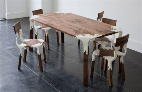 plastic and wood two modern furniture design ideas