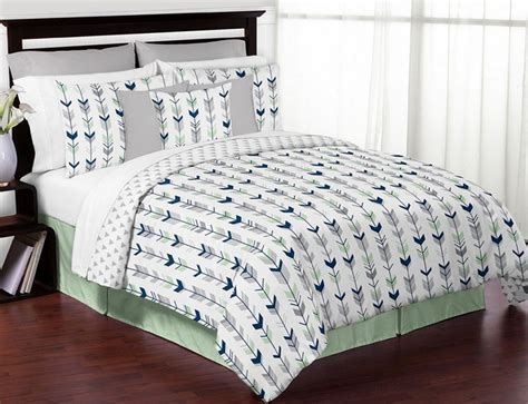 grey and mint bedding mod arrow gray navy mint comforter set 3 piece full