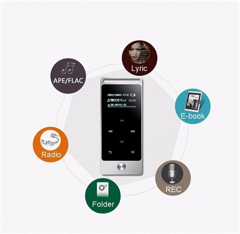 Benjie Mp3 Digital Audio Player Touch Screen 8gb With Fm Radio Silver benjie sale mp3 player with touch screen buy mp3