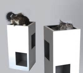 The Refined Feline Lotus Cat Tower In Espresso Top Contemporary Cat Furniture On The Refined Feline 69