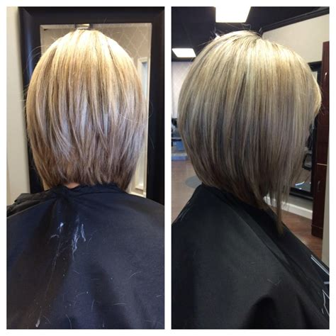 inverted bob long hair hair style and color for woman