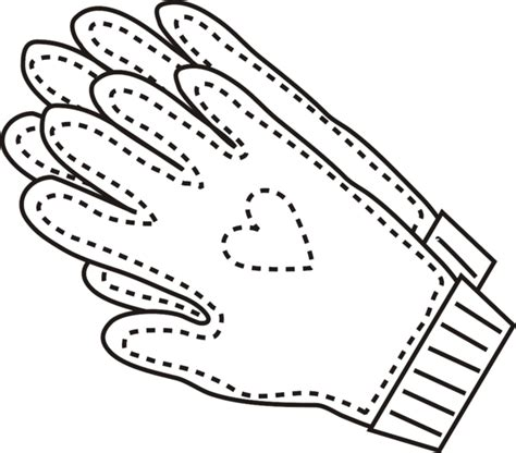 coloring pages winter gloves garden gloves clipart 31