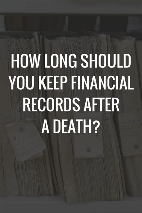How To Keep Records After How Should You Keep Financial Records After A