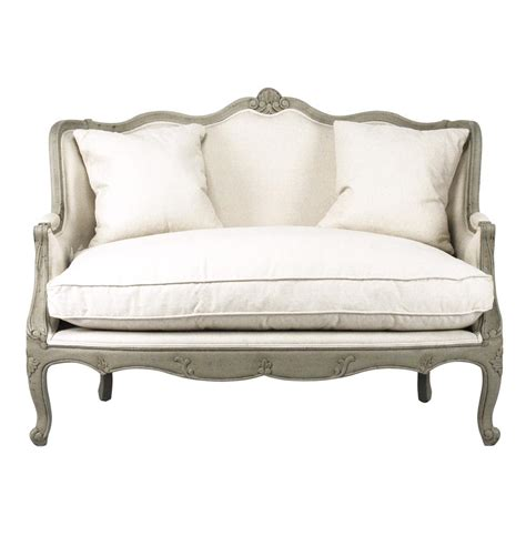 Settee Loveseat Furniture adele country distressed green and white