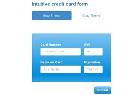 Credit Card Format Jquery 5 Free Jquery Credit Card Form Plugins And Validators Designbeep