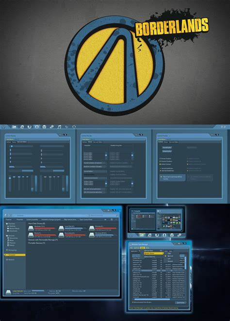 themes for windows 7 guns borderlands theme for windows 7 by yorgash on deviantart
