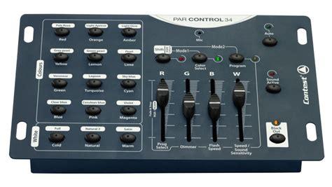 console eclairage contest parcontrol34 console dmx pour projecteurs rgb et