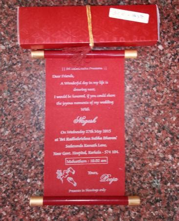 Wedding Invitation Card Bangalore by Sankeshwar Cards Creation Wedding Invitation Card In