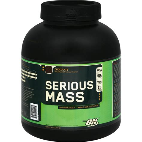 On Serious Mass Optimum Nutrition Serious Mass Supplement 6 Lb Protein