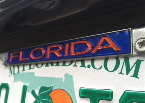 license plate light law florida license plate frames could result in traffic citation
