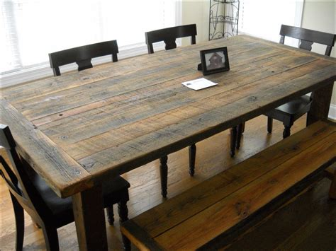 rustic wood dining room table rustic barn wood dining room table kitchen ideas and