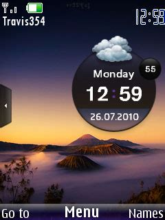 nature clock themes mobile9 download mountain clock theme nokia theme mobile toones