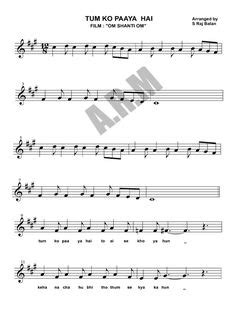 altoo and tenor saxophone sheet music for the song Ae Dil