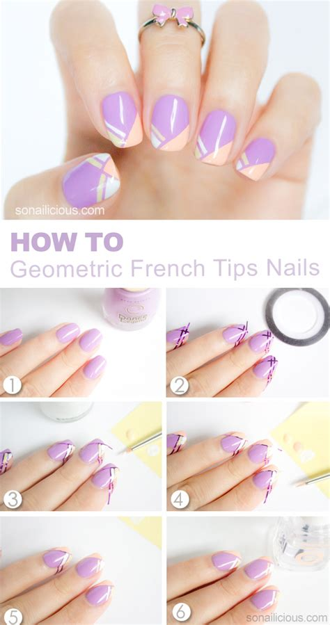 nail art techniques tutorial all of the stars geometric french nails