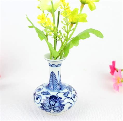 Ornament Vase by Classic Porcelain Vase Ornament Handmade Blue And