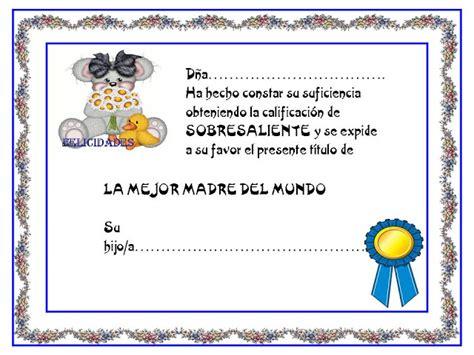 diploma madres diplomas para imprimir y completar