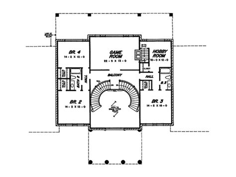 double staircase floor plans cyprus luxury greek revival home plan 060d 0107 house