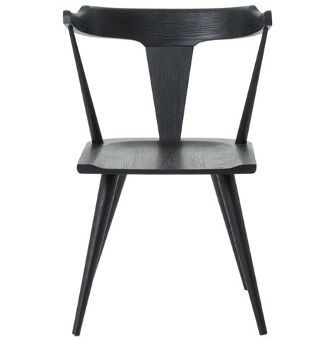 modern black chair tenly mid century modern black oak barrel back dining