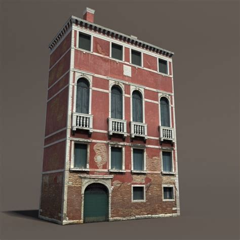 3d house building venice building 133 low poly building 3d model cgstudio