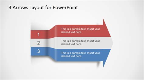 layout powerpoint hinzufügen 3 arrows text layout template for powerpoint slidemodel