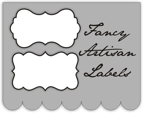 fancy label templates fancy templates clipart best
