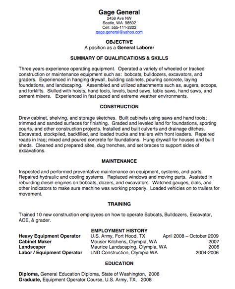 gallery of resume for laborer resume samples landscape worker