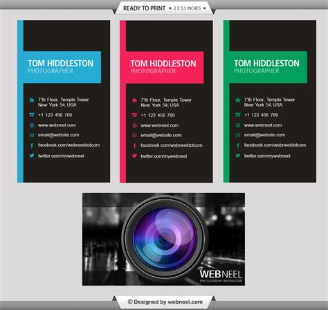 photography business card templates free photography business card design template 37