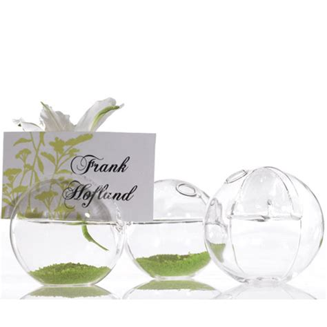 Glass Vase Place Card Holders glass vase and place card holder 4 pcs garden