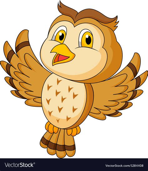 flying owl clipart owl flying royalty free vector image