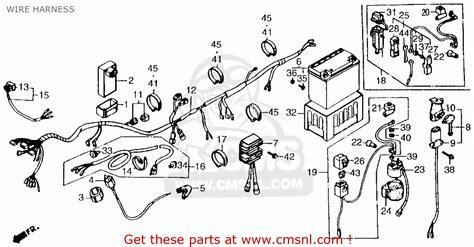 honda atc250es 1985 big usa wire harness schematic