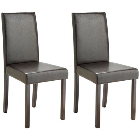Leather Effect Dining Chairs Buy Home Pair Of Leather Effect Mid Back Dining Chairs Black At Argos Co Uk Your Shop
