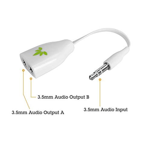 Avantree Tr305 Audio Cable 35mm Aux avantree 3 5mm headphone splitter aux stereo headset earphone y audio adapter cable for