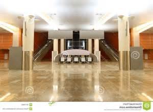 Hall With Granite Floor Columns And Escalators Stock granit floor photos